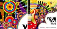 Gitarre, Sternen Vektor Material