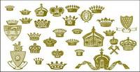 Couronne, le lion, le marteau, Royal mat��riels vecteur