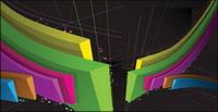 Three-dimensional lignes vectorielles