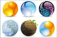 Vektor-Grafik-Elemente der Natur