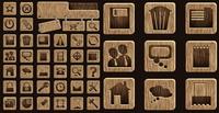 Wood icône vecteur mat��riel
