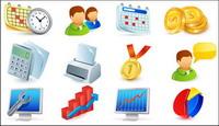 Agenda, reloj, los usuarios, las monedas de oro, de c¨¢lculo vectorial