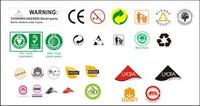 Textile Zusammensetzung Vektor-Logo