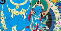 Religion vecteur murales de Dunhuang