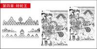 Artefacts bouddhistes diagramme vectoriel