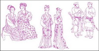 Ancient Chinese Fashion Design Vector