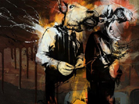 British illustrator Russ Mills insolent lines illustrator appreciate