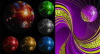 Disco ball Vector material de cristal