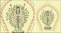 Avalokitesvara Strichzeichnungen