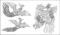 Phoenix pattern vector Fall -2