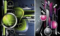 Zukunft Wissenschaft und Technologie Vector Material
