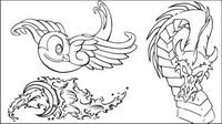 Swallow, des vagues, des dragons, lotus, voile, Tiger