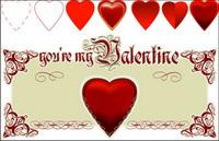 Valentinstag in Herzform Vektor-Material