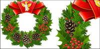 Des guirlandes de Noël, les feuilles