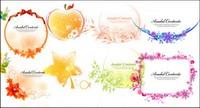 Ruban, des arcs, des pommes, des feuilles, des fleurs