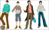 Boys Fashion Vector