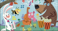 Animal Concert mat��riel Vector