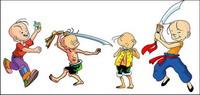 personajes de dibujos vectoriales