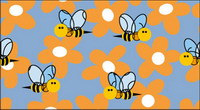 Bee Blumen Vector