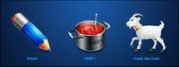Utilisateurs, des rôles, de ch��vre, de crayons, de la soupe, cuisine png icon