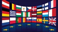 EU-Flagge Vektor-Material