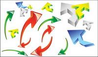 Icono de flecha vector din¨¢mico de material