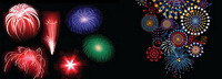 New Year Fireworks mat��riel Vector