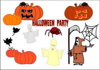 Halloween, Geister, K��rbisse, Spinnen, Fledermäusen, Dämonen