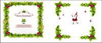 Weihnachtskranz Vector Borders