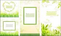 Hojas, hierba vector de encaje