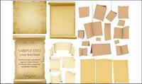 Altes Papier, Kraftpapier, alte B��cher des Vektors Material