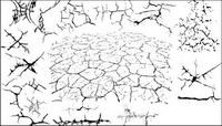 Serie von Schwarz-Weiß-Design-Elemente Vektor Material -2 (crack)