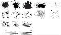 Serie de blanco y negro, los elementos materiales de diseño vectorial -6 (mancha de tinta)
