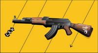 Vector fusils AK47