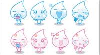 Kleine Wassertropfen Emoticons gif-Animation