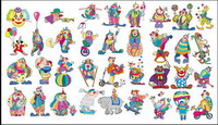 Clown Set material Vector