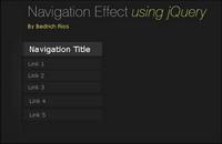 Menu dynamique bas��e sur la forme verticale jQuery (JS + CSS)