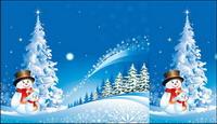 Navidad Snowman Snow material Vector