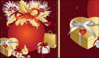 Weihnachten, Bänder, Schleifen, Geschenk-Vektor