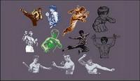 Kung Fu populaire s��rie vecteur
