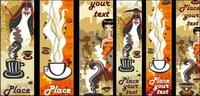 Les femmes et caf�� vecteur