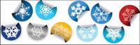 Pegatinas Snowflake vector icono