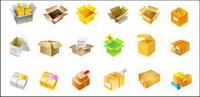 Kartons, Obst-, Geld-, Verpackungs-Vektor