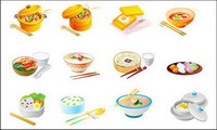 Cuisine chinoise Vector Icons