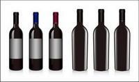 Vin rouge de bouteilles