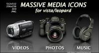 DV, Kamera, Headset, SONY KONICA Icons