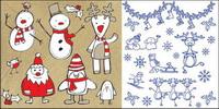 Elk, chaussettes, salopettes, ��charpe, ski, vecteur de d��coration