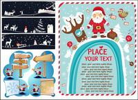 Las señales de tr¨¢fico, de madera, sombreros de Navidad, los signos flechas