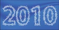 Snowflake Vector mat��riau compos�� de 2010