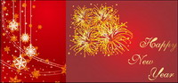 Kr��cken, Bänder, Schleifen, Feuerwerk, guten Rutsch ins neue Jahr